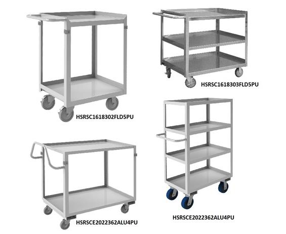 STAINLESS STEEL SHELF STOCK CARTS