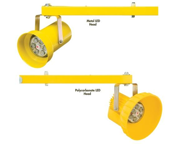 METAL OR POLYCARBONATE HEADS WITH LEDS REPLACEABLE HEAD