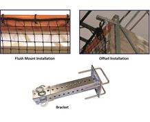 INSTALLATION HARDWARE FOR PALLET RACK GUARD NET SYSTEMS